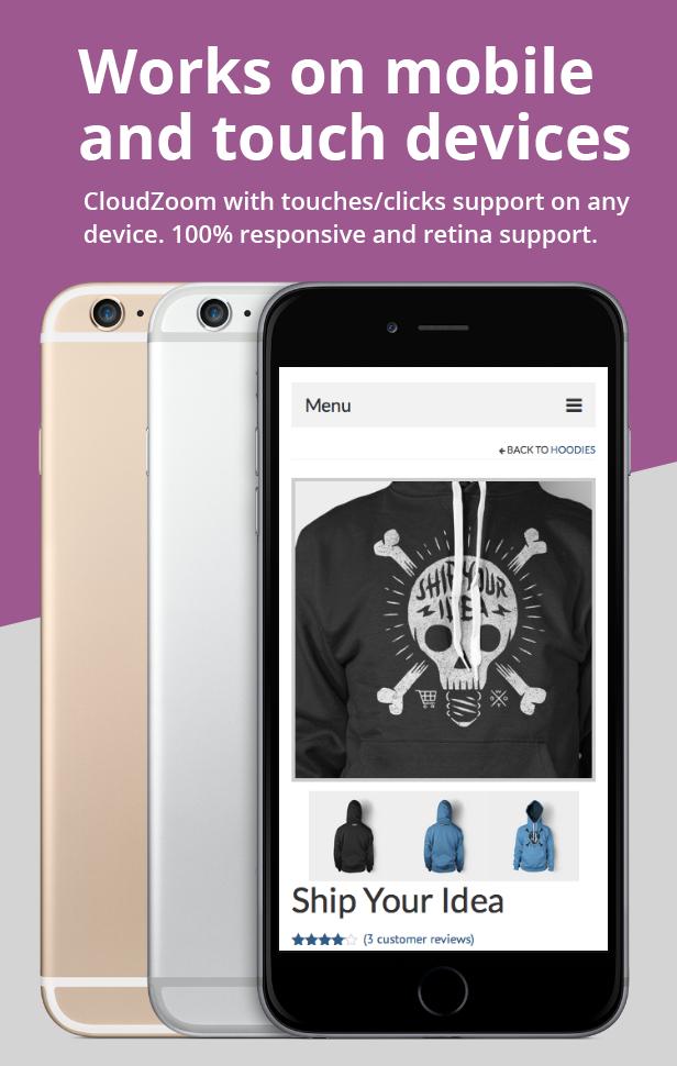 Ultimativer WooCommerce CloudZoom für Produktbilder