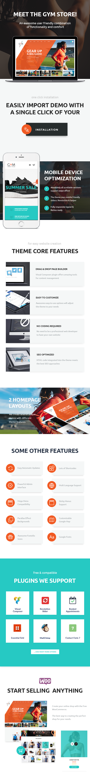 GYM | WordPress-Layout für Sportbekleidung und -ausrüstung