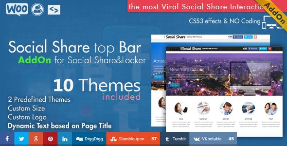 Social Share & Locker Pro Template Pack (W & B)