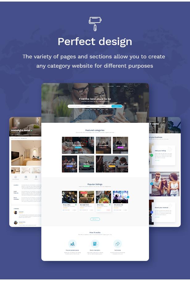 ListingEasy Directory WordPress Layout