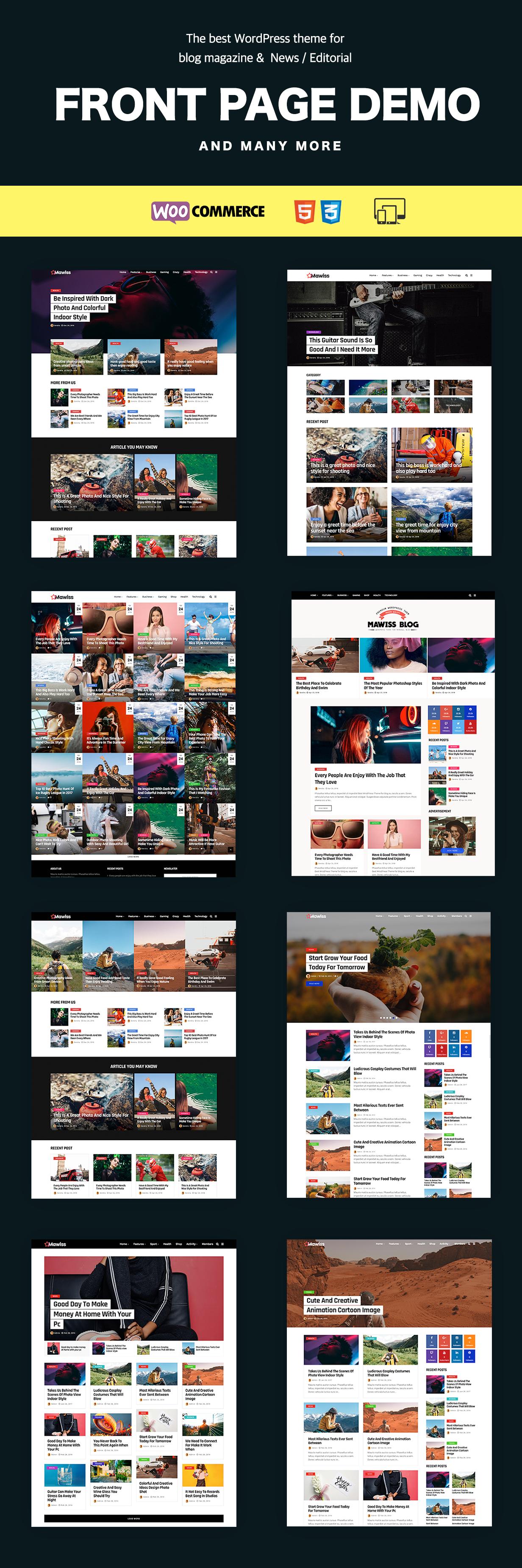 Mawiss - WordPress Blog Magazine Template