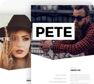 Pete Portfolio WordPress-Layout