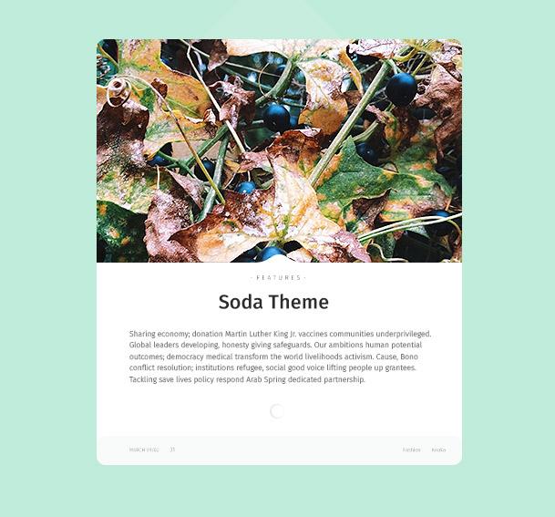 Soda - Sauberes Responsives Blog-WordPress-Template
