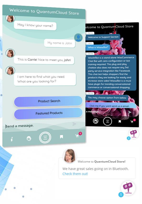 Chat Bot für WooCommerce - Retargeting, Zielabbruch, Abandoned Cart, Facebook Live Chat - WoowBot
