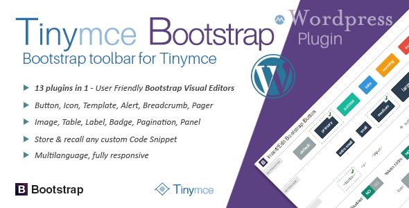 Wordpress Add-On Plugin tinyMce Bootstrap Plugin for WordPress