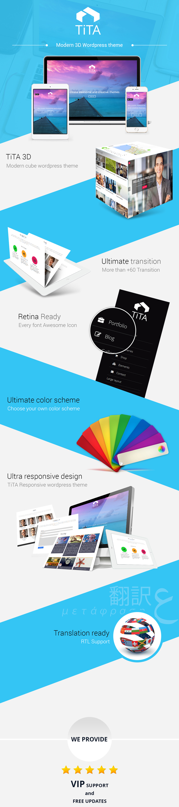 Tita 3D - Modernes WordPress-Template