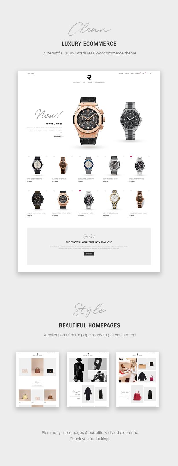 Romeo - Luxus Modernes WooCommerce-WordPress-Layout