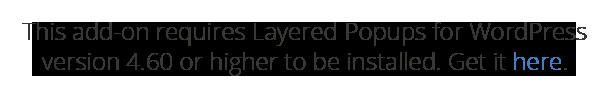 Anmeldefeld - Layer-Popups für WordPress-Add-On