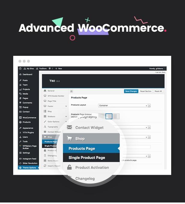 Yez - Mehrzweck WooCommerce WordPress Layout