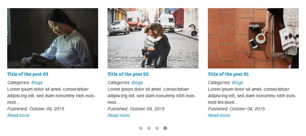 VG PostCarousel - Postkarussell für WordPress