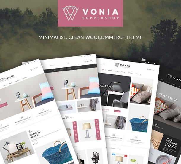 VG Vonia - Minimalistisches, sauberes WooCommerce-Template