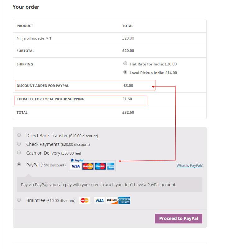 WooCommerce Erweiterte Rabatte und Gebühren