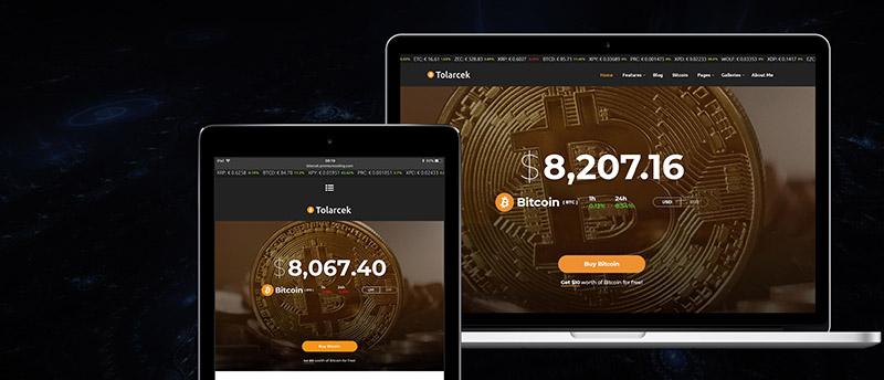 Tolarcek - Ein WordPress-Blogdesign für Bitcoin & CryptoCurrency