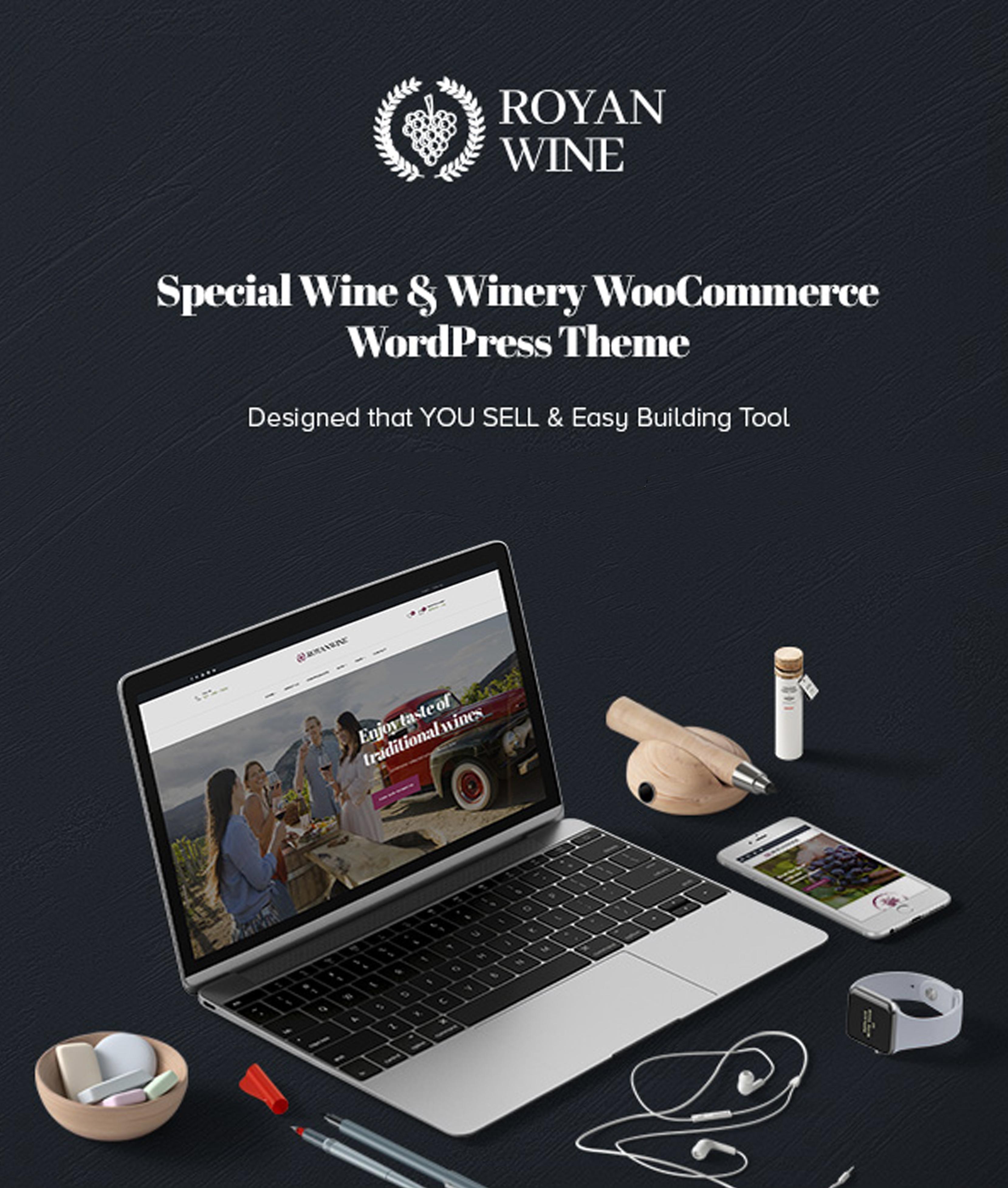 Royanwine - Best Vineyard, Weingut, Winzer, Milchviehbetrieb WordPress Vorlage / WpOpal