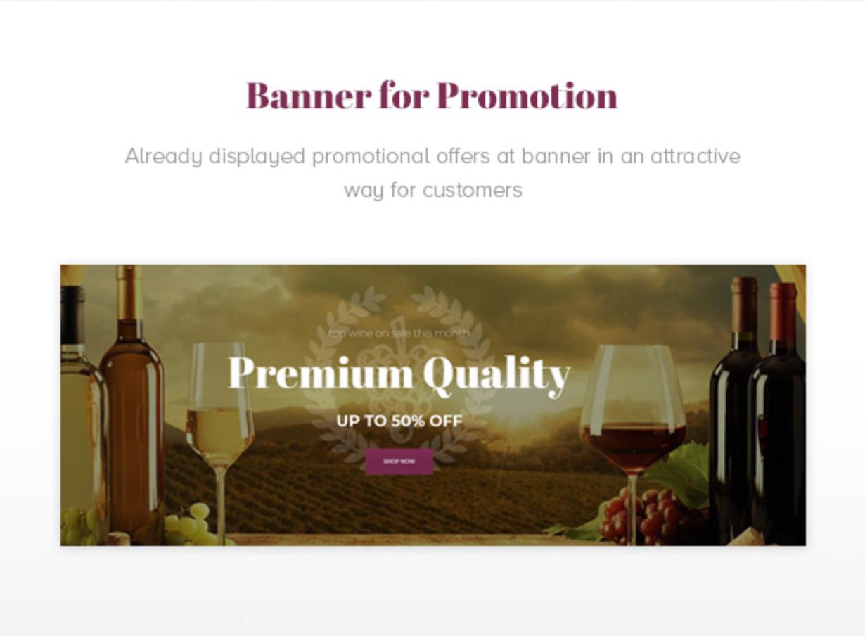 Royanwine Promotion Banner für Vinyard, Weingut, Winzer, Milchfarm