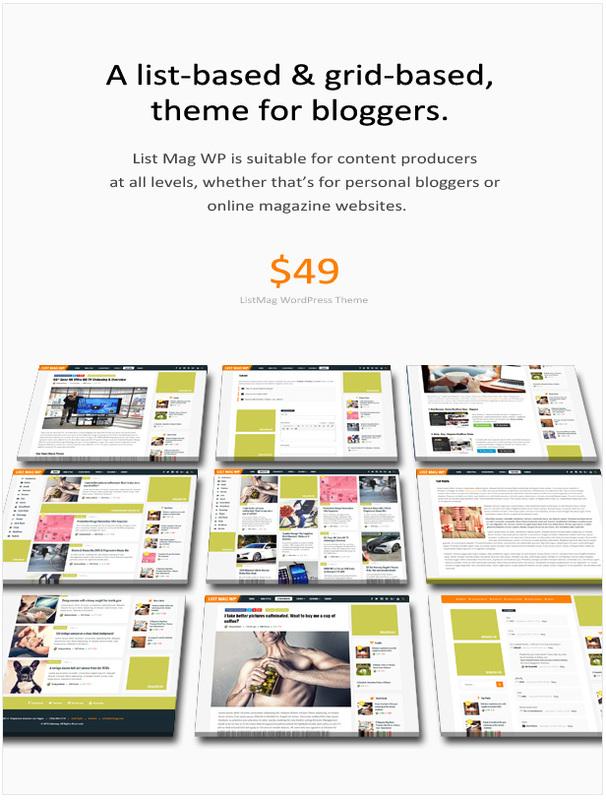 List Mag WP - Ein responsives WordPress-Blogdesign