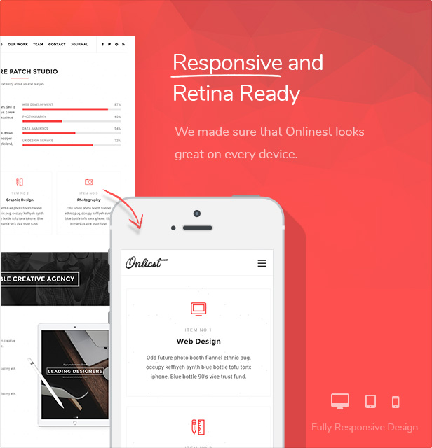 Erstes - Kreatives Portfolio One Page WP Template