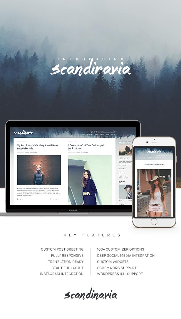 Skandinavien - Blogging-Template für WordPress