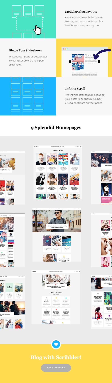 Scribbler - Einfaches Blogdesign