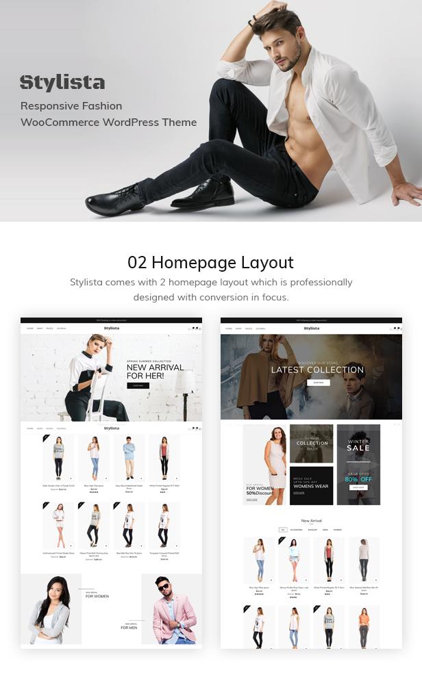 Stylista - Responsive Fashion WooCommerce WordPress-Vorlage