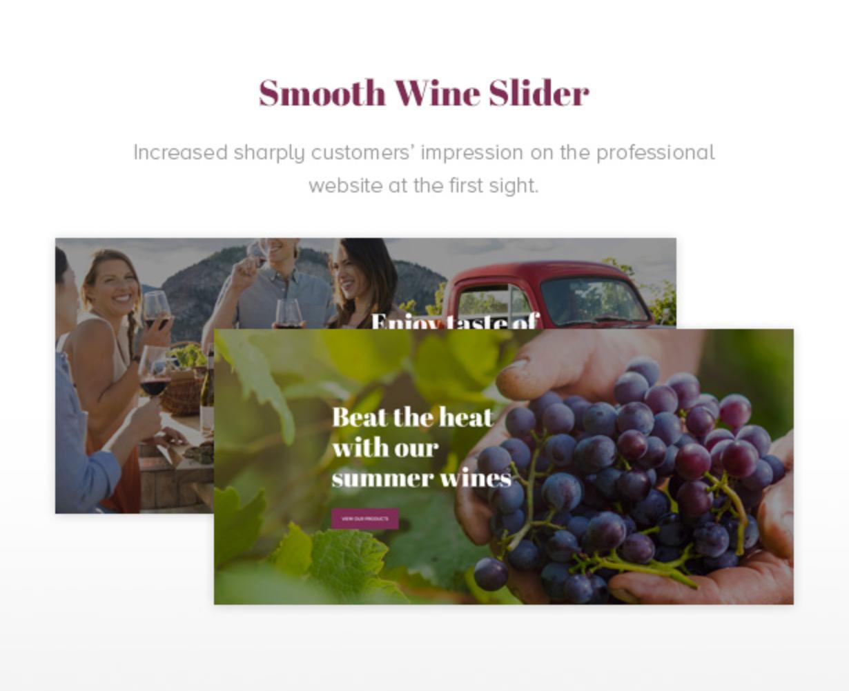 Royanwine Smooth Wine Slider für Vinyard, Weingut, Winzer, Milchviehbetrieb