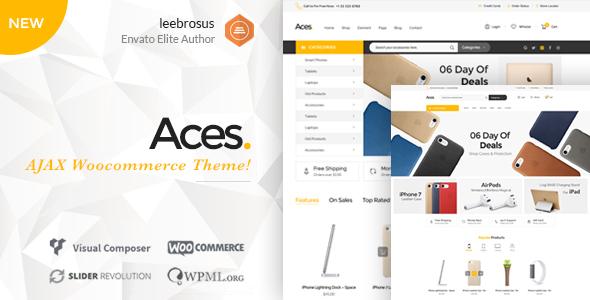 Wordpress Shop Template Ace - Accessories AJAX Woocommerce Theme