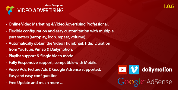 Wordpress Add-On Plugin Video Advertising Addon For Visual Composer