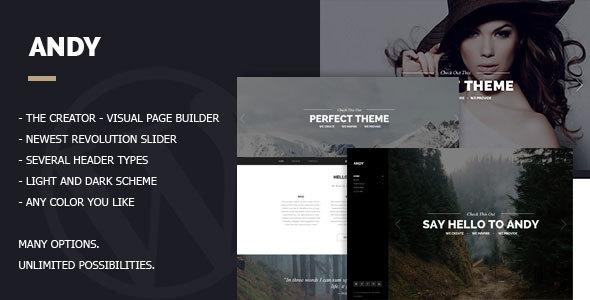 Wordpress Kreativ Template Andy - Multi/One-Page Minimal Parallax Theme