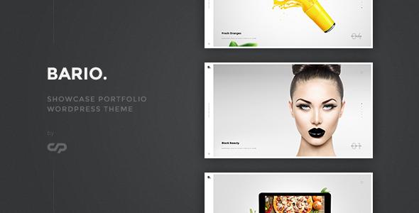 Wordpress Kreativ Template Bario - Showcase Portfolio WordPress Theme