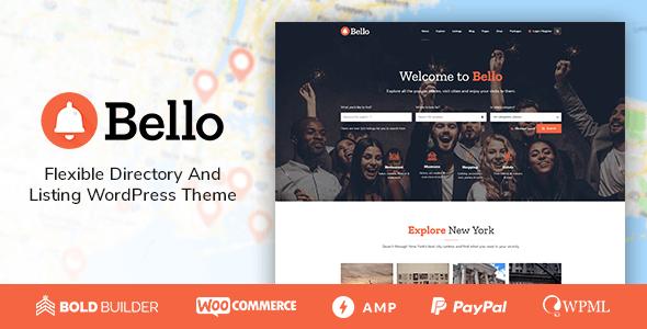 Wordpress Directory Template Bello - Directory & Listing Theme