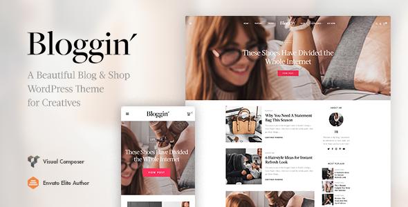 Wordpress Blog Template Blggn - A Responsive Blog & Shop WordPress Theme