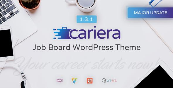 Wordpress Directory Template Cariera - Job Board WordPress Theme