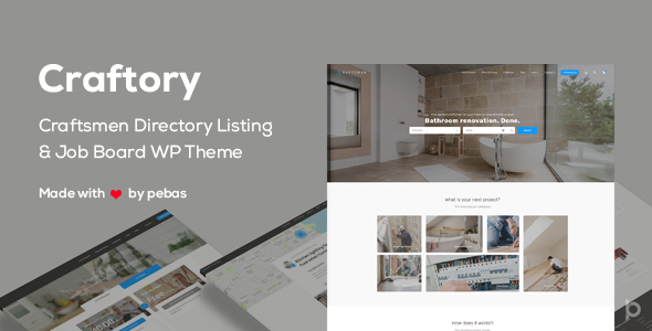 Wordpress Directory Template Craftory - Directory Listing Job Board WordPress Theme
