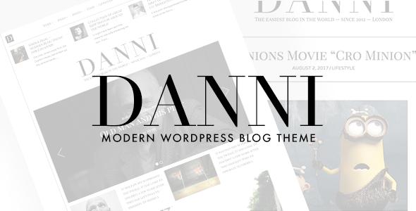 Wordpress Blog Template Danni — Minimalist WordPress Blog Theme