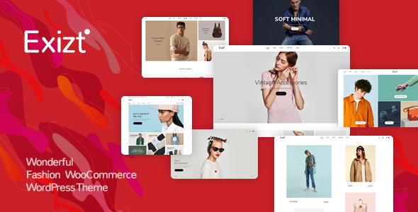 Wordpress Shop Template Exizt  - Fashion WooCommerce WordPress Theme