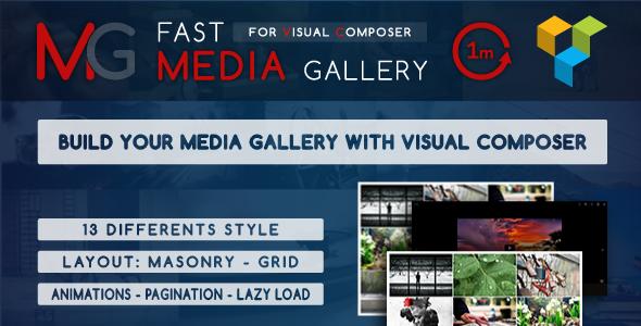 Wordpress Add-On Plugin Fast Media Gallery For Visual Composer - WordPress Plugin