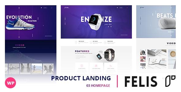 Wordpress Shop Template Felis - WordPress Product Landing Page