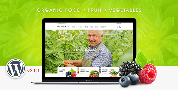 Wordpress Shop Template FreshFood - Multi Store Responsive WordPress Theme