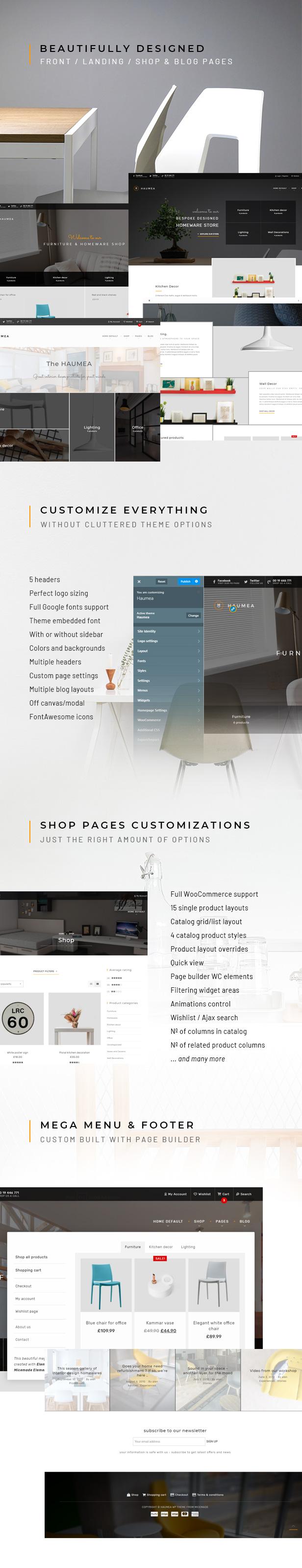 Haumea - WP-Layout für E-Commerce für Haushaltswaren und Möbel
