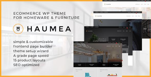 Wordpress Shop Template Haumea - E-commerce WP Theme for Homeware and Furniture