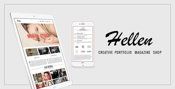 Wordpress Kreativ Template Hellen - Elegant & Minimalist WordPress Theme