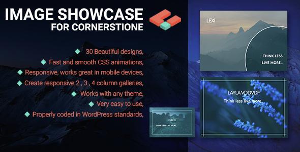 Wordpress Add-On Plugin Image Showcase for Cornerstone