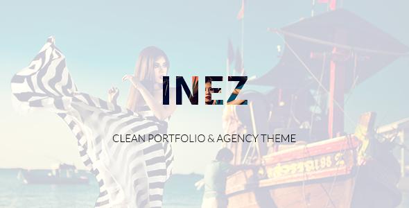 Wordpress Kreativ Template Inez - Clean Portfolio & Agency Theme