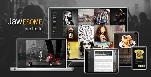 Wordpress Kreativ Template JaWesome - Design & Product Portfolio Theme
