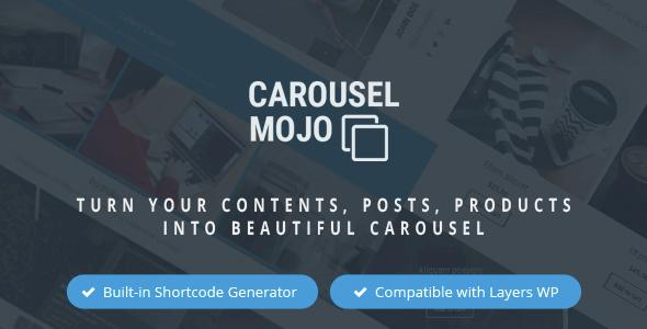 Wordpress Add-On Plugin Carousel Mojo - Turn Content into Beautiful Carousel