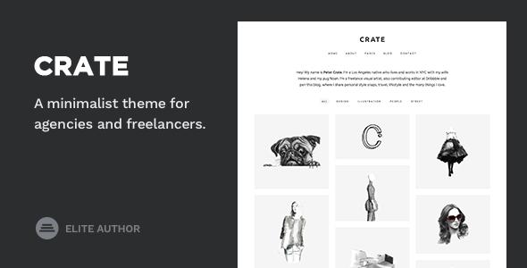 Wordpress Kreativ Template Crate - Minimalist WordPress Theme