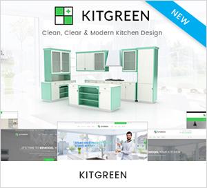 Moderne Küche & Interior Design WordPress Theme