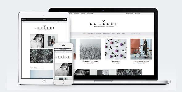 Wordpress Blog Template LORELEI - Nordic Blog & Shop Theme