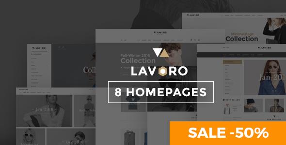 Wordpress Shop Template Lavoro - Fashion Shop WooCommerce Theme