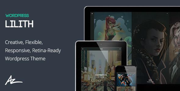 Wordpress Kreativ Template Lilith - Creative & Shop WordPress Theme